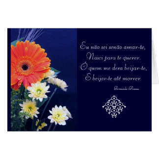 Portuguese: Love poem São Valentim Card