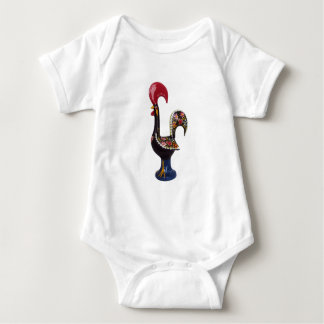 Portuguese Lucky Rooster Baby Bodysuit
