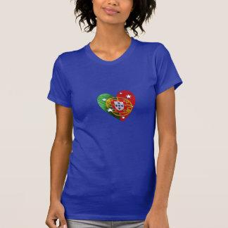 Portuguese: Luso Americano - heart flag Tshirt