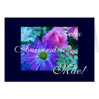 Portuguese: Mom's Roses-Aniversário da mãe! Cards