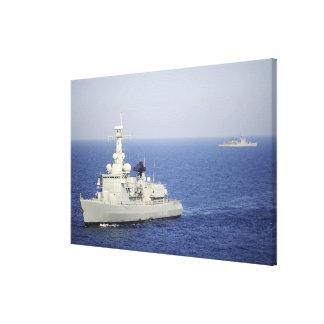Portuguese navy frigate NRP Bartolomeu Dias Canvas Print