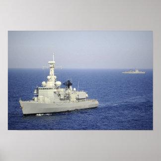 Portuguese navy frigate NRP Bartolomeu Dias Posters