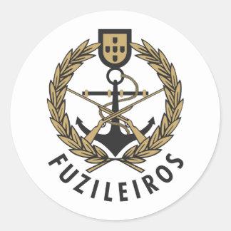 "Portuguese Navy Marines ""Fuzileiros"" Classic Round Sticker"