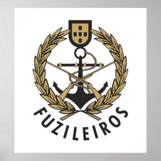"""Portuguese Navy Marines """"Fuzileiros"""" Poster"""