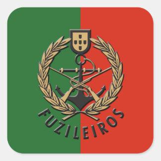 "Portuguese Navy Marines ""Fuzileiros"" Square Sticker"