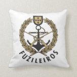 """Portuguese Navy Marines """"Fuzileiros"""" Throw Pillow"""