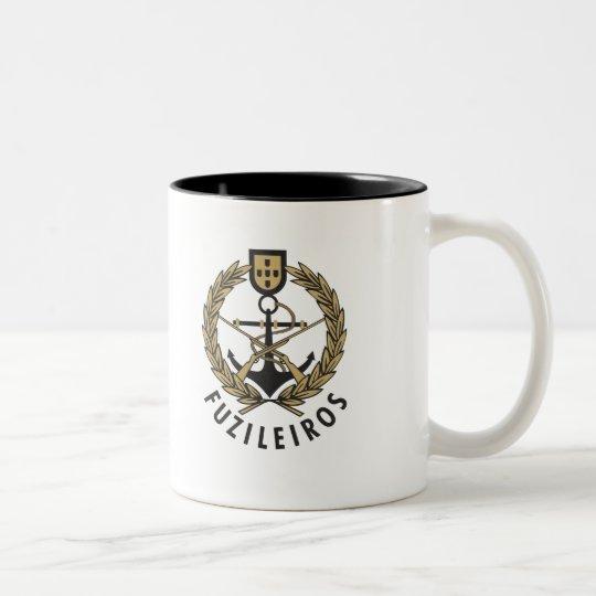 "Portuguese Navy Marines ""Fuzileiros"" Two-Tone Coffee Mug"