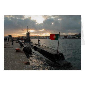 Portuguese Navy submarine Card