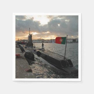 Portuguese Navy submarine Paper Napkins