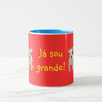 Portuguese: O Miguel já é grande! Two-Tone Coffee Mug
