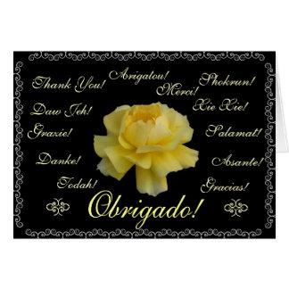 Portuguese: Obrigado em 13 linguas Thank you! Stationery Note Card