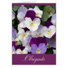 Portuguese : Obrigado - Thank you flowers Card