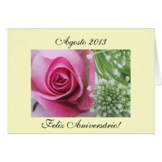 Portuguese: Parabens Agosto 2013 Greeting Card