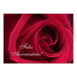 Portuguese: Parabens! Birthday rose Card