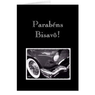 Portuguese: Parabens Bisavô / car Card