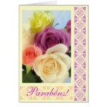 Portuguese: Parabens! Happy Birthday! Card