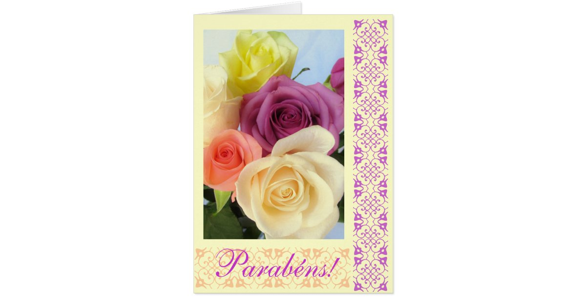 Portuguese Parabens Happy Birthday Card – Portuguese Birthday Cards