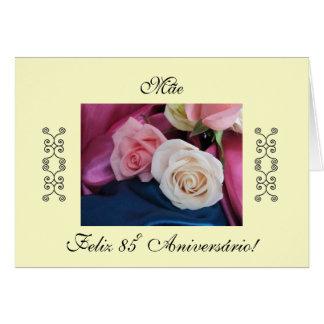 Portuguese:Parabéns mãe/ Mom's birthday/rosa Cards