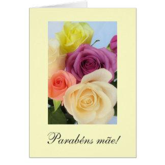 Portuguese: Parabens!  Mom's birthday Greeting Card