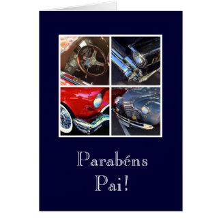 Portuguese: Parabens Pai/ car Card