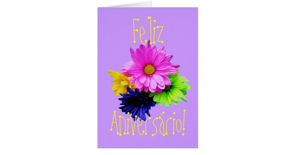 Portuguese Parabens para uma meninabirthday Card – Portuguese Birthday Cards