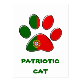 Portuguese patriotic cat postcard