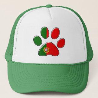 Portuguese patriotic cat trucker hat