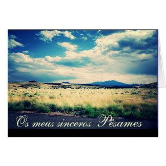 Portuguese: Pesames e paisagem campina Card