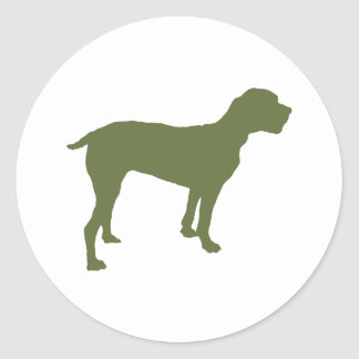 Portuguese Pointer Round Sticker