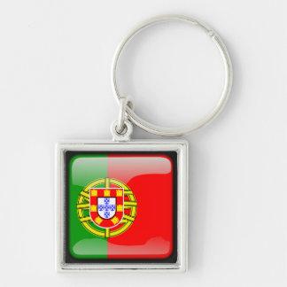 Portuguese polished flag keychain