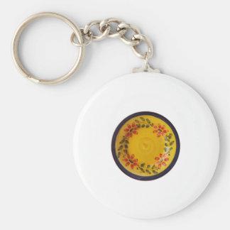 Portuguese Pottery Basic Round Button Keychain