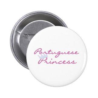 Portuguese Princess Pinback Buttons
