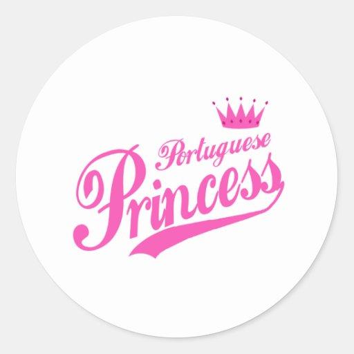 Portuguese Princess Classic Round Sticker
