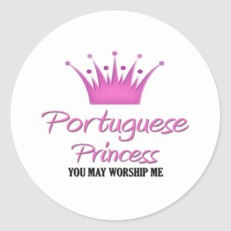 Portuguese Princess Round Sticker