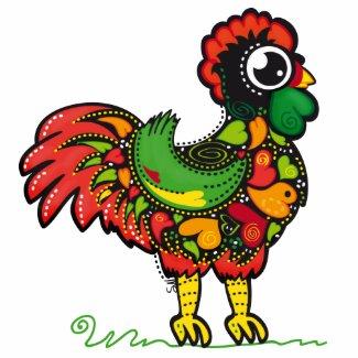 Portuguese Rooster bag zazzle_bag