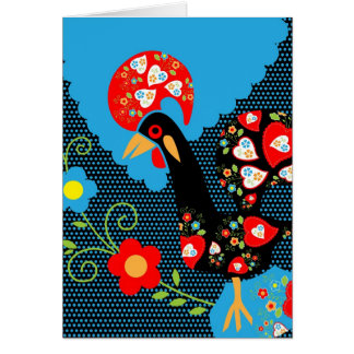 Portuguese Rooster Greeting Card