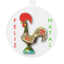 Portuguese Rooster Christmas Ornament