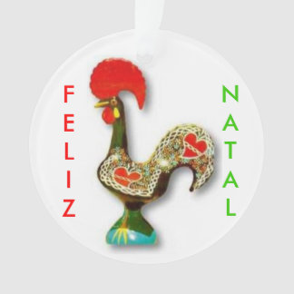 Portuguese* Rooster Christmas Ornament