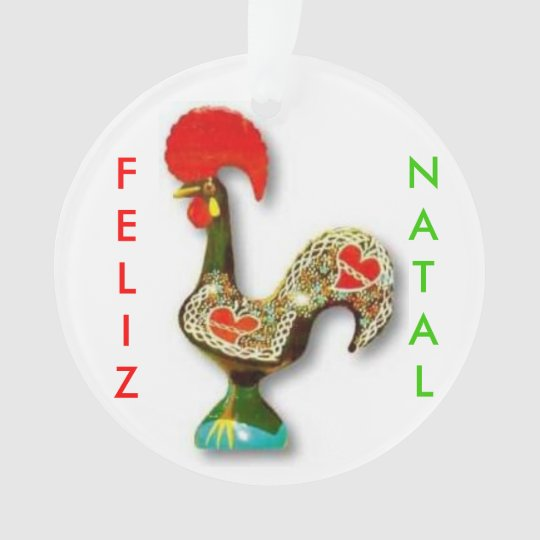 Portuguese* Rooster Christmas Ornament - Portuguese* Rooster Christmas Ornament Zazzle.com