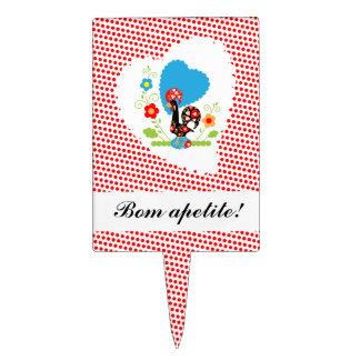 Portuguese rooster food topper cake toppers