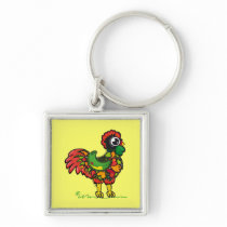 Portuguese Rooster keychain