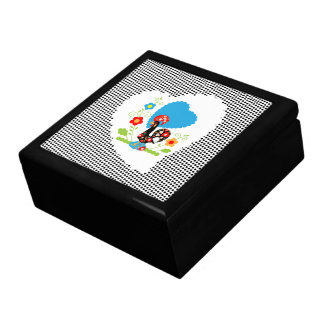 Portuguese Rooster  of Luck Black Box
