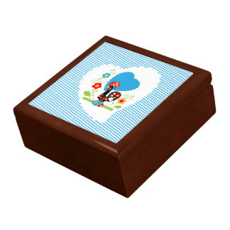 Portuguese Rooster  of Luck Brown Box