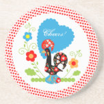 Portuguese Rooster of Luck Coasters