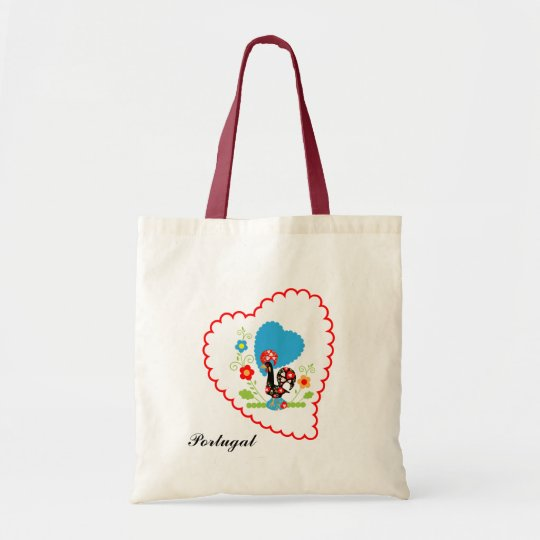 Portuguese Rooster of Luck Cotton Bag