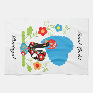 Portuguese Rooster Of Luck Kitchen Towel