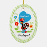 Portuguese Rooster of Luck Christmas Tree Ornaments
