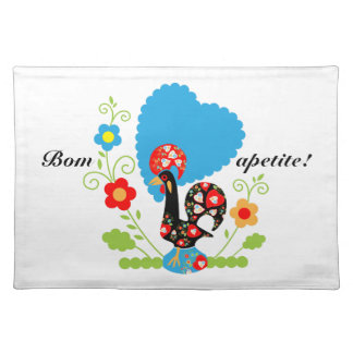 Portuguese Rooster of Luck Placemat