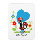 Portuguese Rooster of Luck Rectangular Photo Magnet