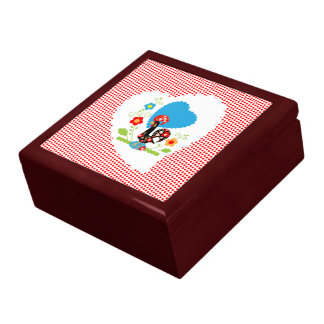 Portuguese Rooster  of Luck Red Box